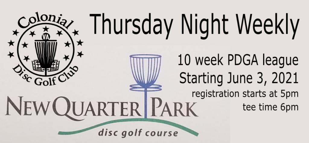 Thursday Night PDGA Weekly at New Quarter Park